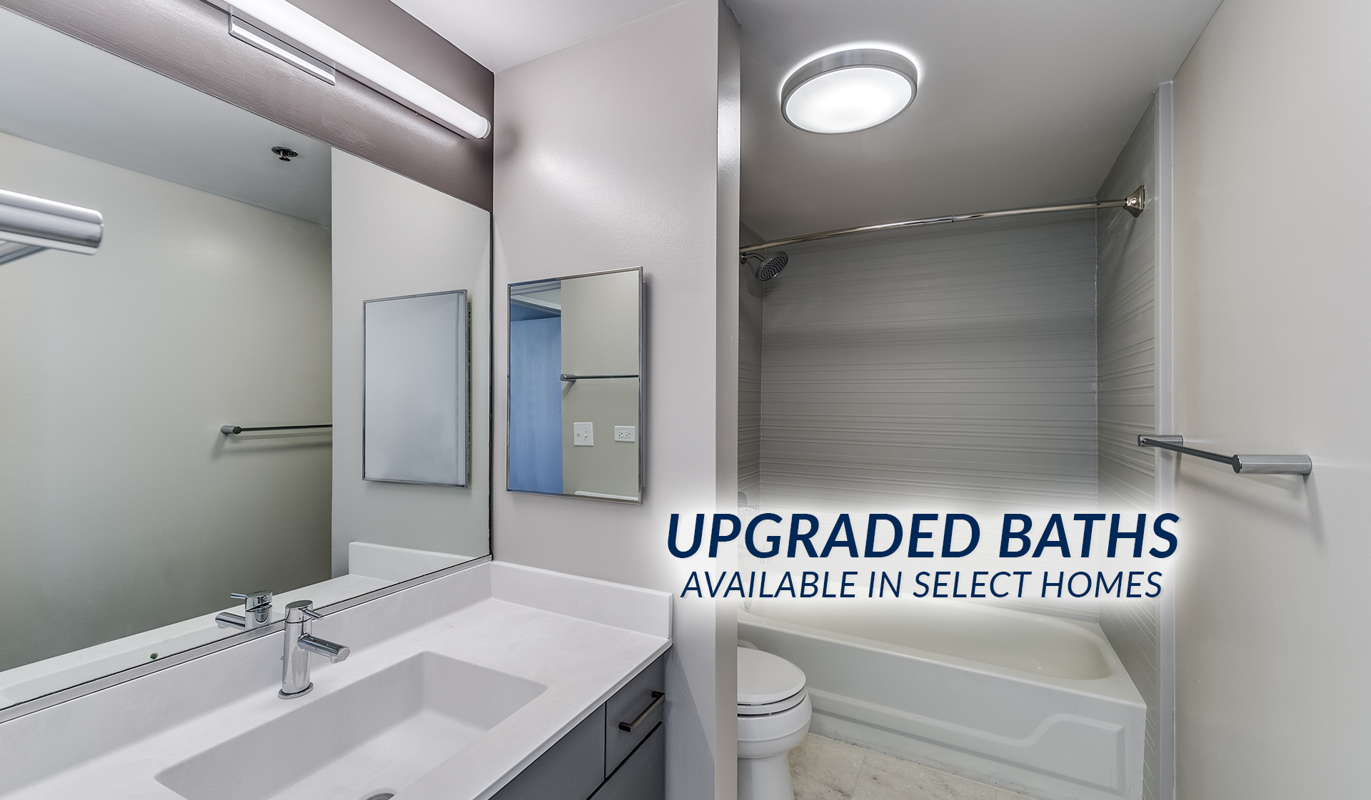 Evanston Place Apartments in Evanston, IL -  upgraded baths